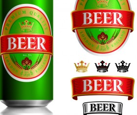 Beer cans with beer labels vector