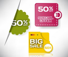 Big sale design elements vector