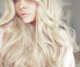 Blonde beautiful girl Stock Photo