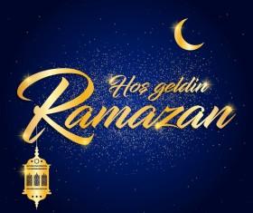 Blue styles ramazan background vector 02