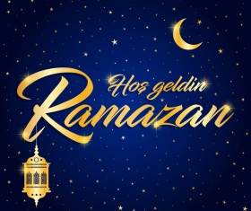 Blue styles ramazan background vector 03
