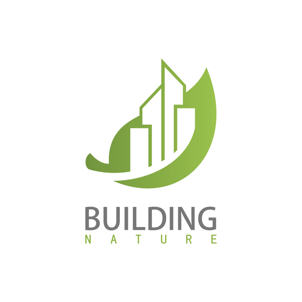 Building nature logo vector