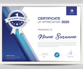 Business certificate template creative design vector 02
