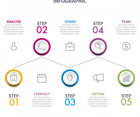 Business strategy infographic template vector 03