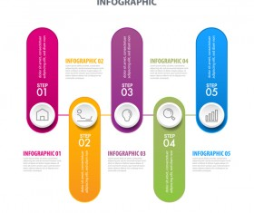 Business strategy infographic template vector 05