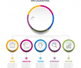Business strategy infographic template vector 07