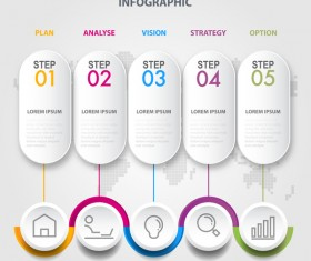 Business strategy infographic template vector 08