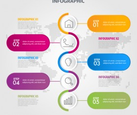 Business strategy infographic template vector 09