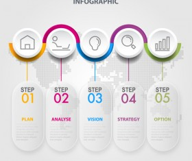 Business strategy infographic template vector 10