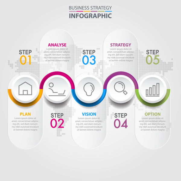 Business Strategy Infographic Template Vector 12
