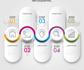 Business strategy infographic template vector 13