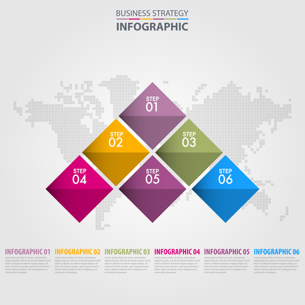 Business strategy infographic template vector 14