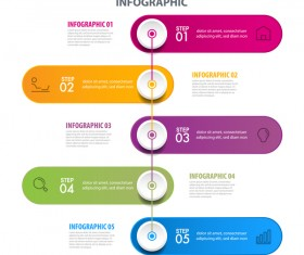 Business strategy infographic template vector 15