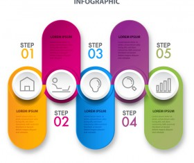 Business strategy infographic template vector 17