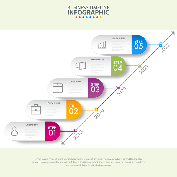 Business strategy infographic template vector 20