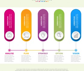 Business strategy infographic template vector 22