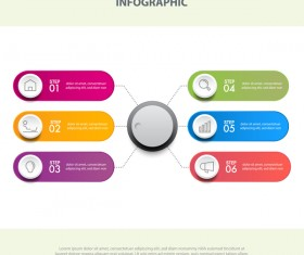Business strategy infographic template vector 23