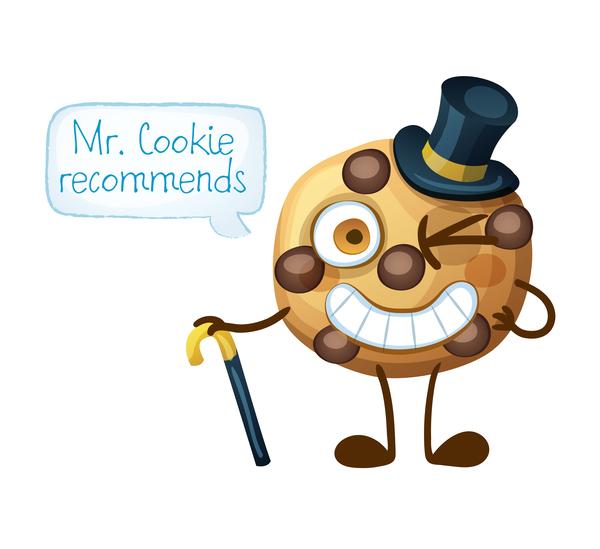 Cartoon cookie characters vector