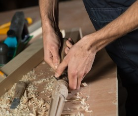 Carved woodworking Stock Photo 01
