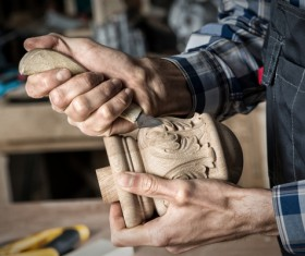 Carved woodworking Stock Photo 03