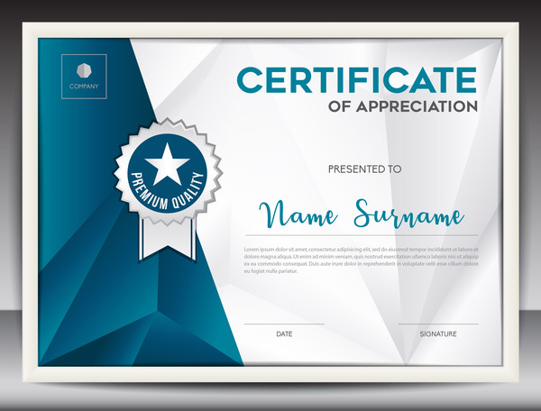 Certificate template with polygon background vector 02 vector certificate template with polygon background vector 02 yadclub Images