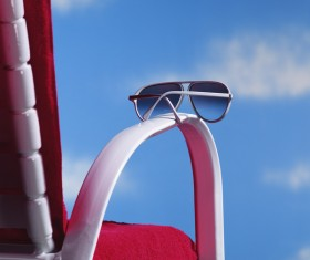 Chair handle on the sunglasses Stock Photo