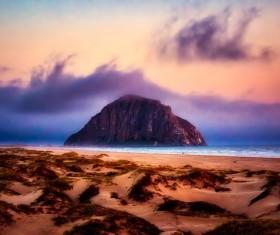Charm of California beach Stock Photo
