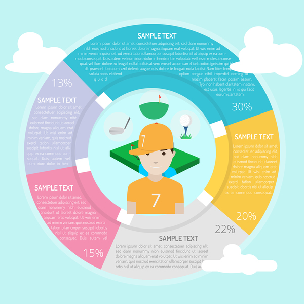 Circle frame Infographic template vector 04