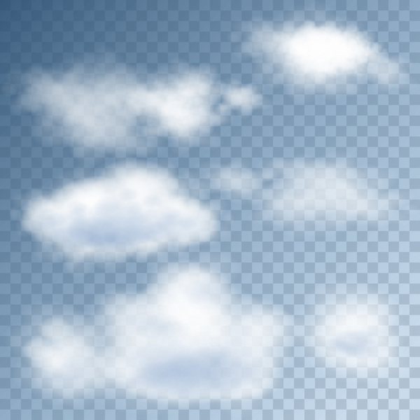 Cloud illustration design vector 01