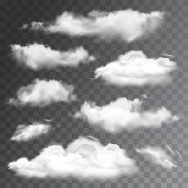 Cloud illustration design vector 02