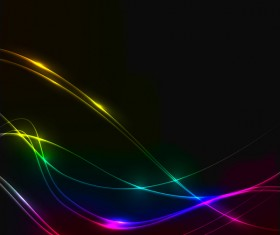 Colorful waves art vector background
