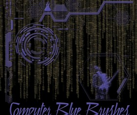 Computer Blue Photoshop Brushes