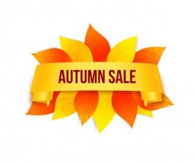 Creative autumn sale labels design vectors 01