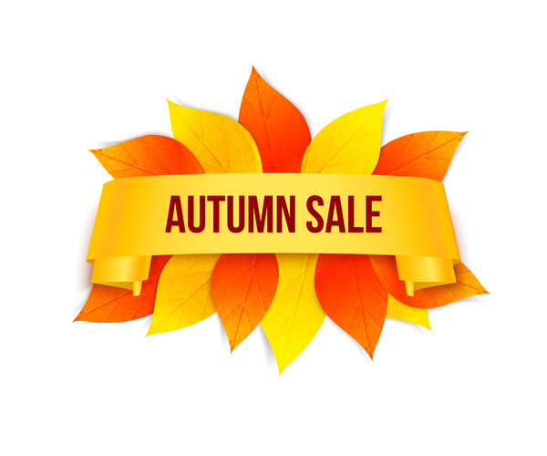 Creative autumn sale labels design vectors 01
