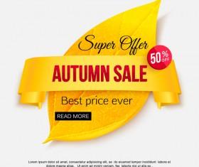 Creative autumn sale labels design vectors 03