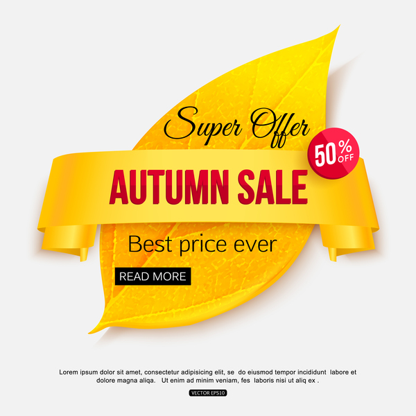 Creative autumn sale labels design vectors 03