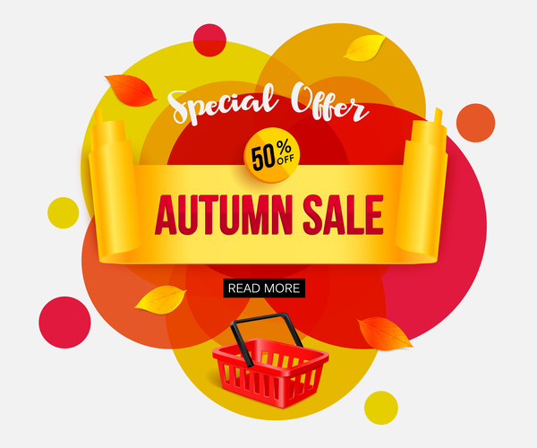 Creative autumn sale labels design vectors 04