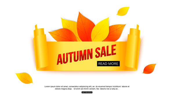 Creative autumn sale labels design vectors 05