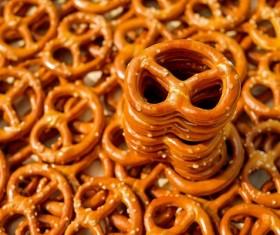 Crispy baked pretzels Stock Photo