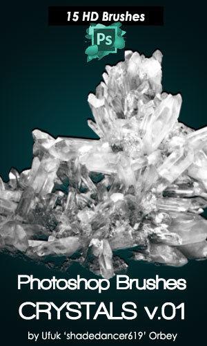 Crystals Photoshop Brushes