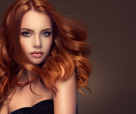 Curly hair beautiful young woman Stock Photo 07