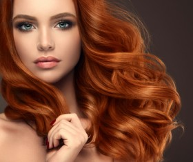 Curly hair beautiful young woman Stock Photo 08