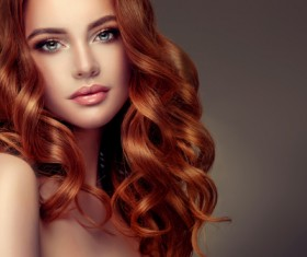 Curly hair beautiful young woman Stock Photo 09