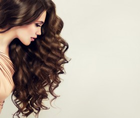 Curly hair beautiful young woman Stock Photo 10