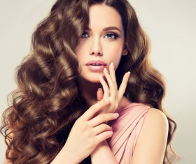 Curly hair beautiful young woman Stock Photo 11