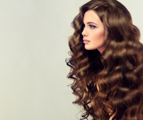 Curly hair beautiful young woman Stock Photo 12