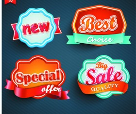 Cute special offer with sale labels vector