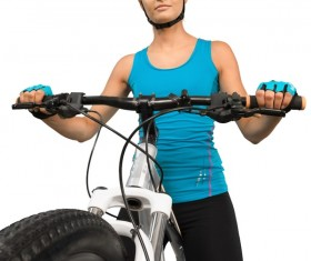 Cycling exercise woman Stock Photo 06
