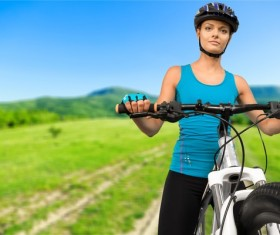 Cycling exercise woman Stock Photo 08