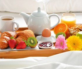 Delicious breakfast in the tray Stock Photo 01
